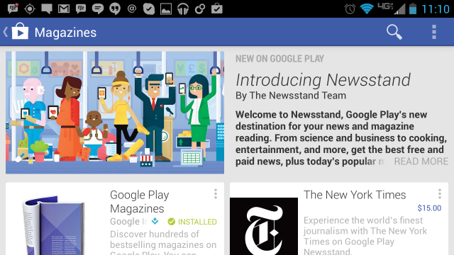 Google представила сервис Play Newsstand и средство оплаты Google Wallet Card